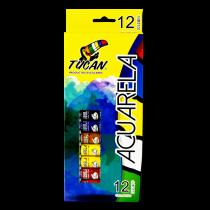 Acuarela en Tubo 12 ml 12 Colores