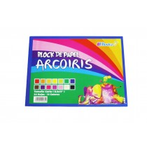 Block Arcoiris Carta 24 Hojas