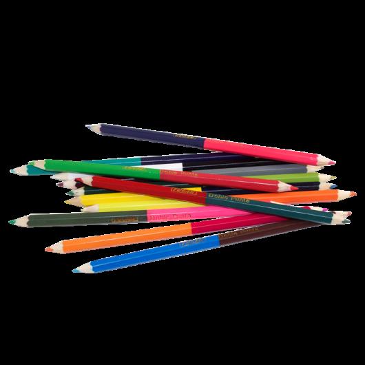 Crayon De Madera Doble Punta 24 Colores