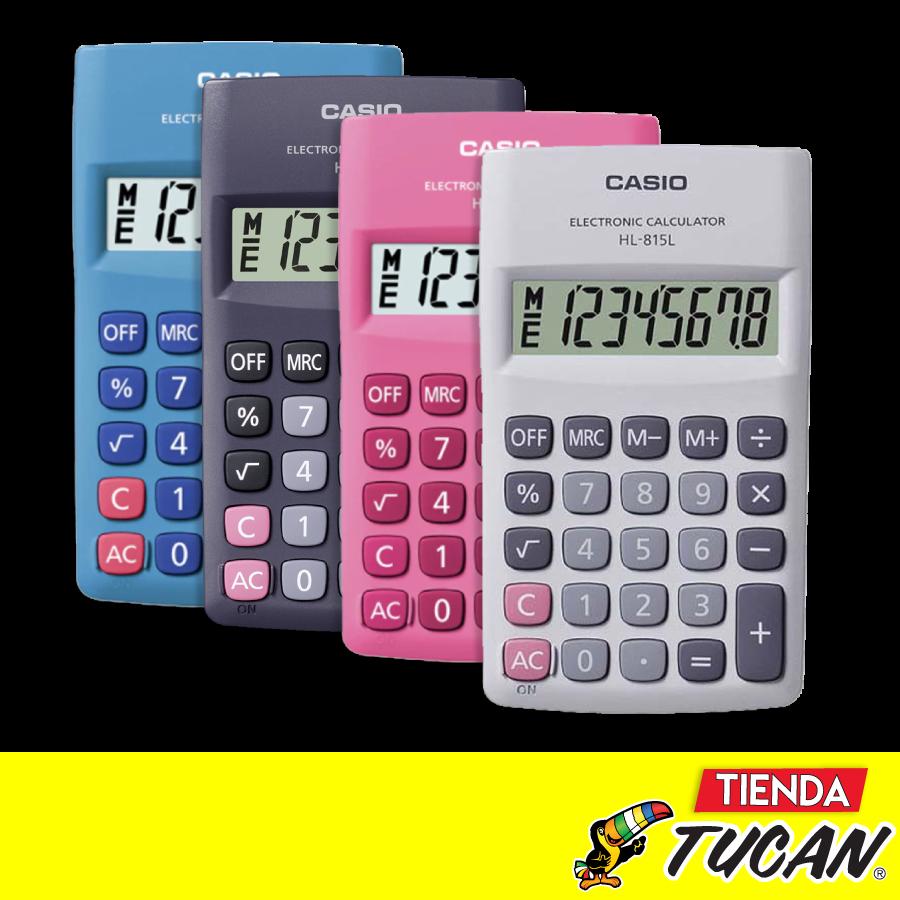 4d342030497c Calculadora CASIO HL-815-BK D Bolsillo 8 DGT